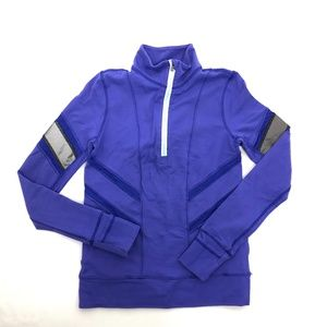 Ivivva Pullover Jacket Quarter Zip Up Glow And Go